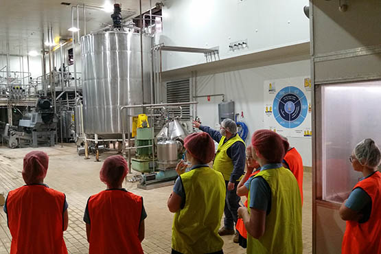 Senior Secondary Food Technology students visit the Riverina source of much of Sydney's breakfast OJ.
